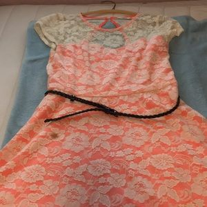 Candie's lacy dress.